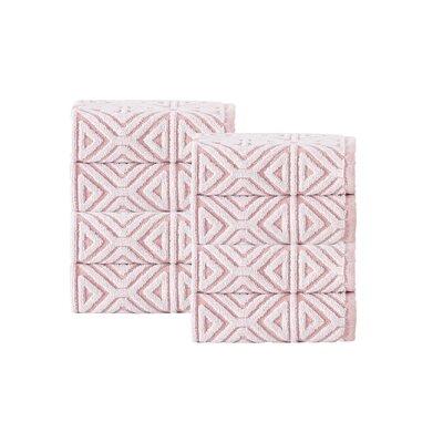 Glamour Turkish Cotton Washcloth Color: Pink