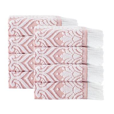Laina 8 Piece 100% Cotton Towel Set Color: Pink