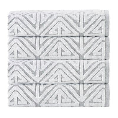 Glamour 100% Cotton Towel Color: Silver