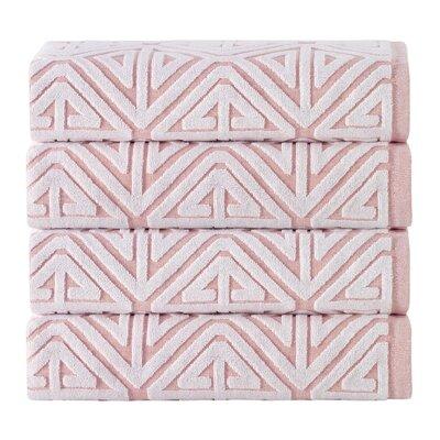 Glamour 100% Cotton Towel Color: Pink