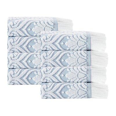 Laina 8 Piece 100% Cotton Towel Set Color: Turquoise