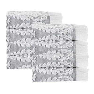 Laina 8 Piece 100% Cotton Towel Set Color: Silver