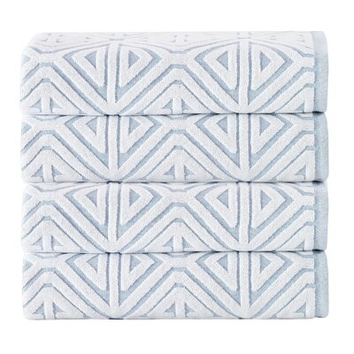 Glamour 100% Cotton Towel Color: Turquoise