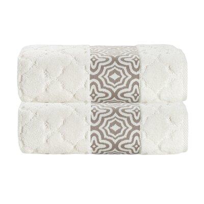 Turner Zero-Twist 100% Cotton Bath Sheet Color: Cream
