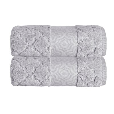 Turner Zero-Twist 100% Cotton Bath Sheet Color: Gray