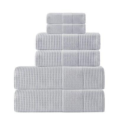Ria 6 Piece Towel Set Color: Silver