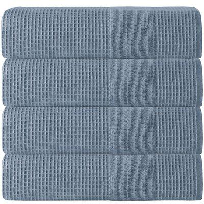 Ria Turkish Cotton Bath Towel Color: Navy