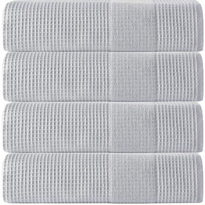 Ria Turkish Cotton Bath Towel Color: Silver