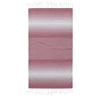 Pestemal Fouta 100% Cotton Beach Towel Color: Red