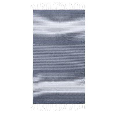 Pestemal Fouta 100% Cotton Beach Towel Color: Navy