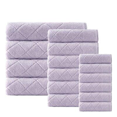 Villeroux 16 Piece Turkish Cotton Towel Set Color: Lilac