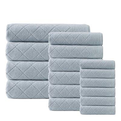 Villeroux 16 Piece Turkish Cotton Towel Set Color: Green