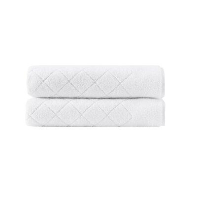 Violet Plush Turkish Cotton Bath Towel Color: White