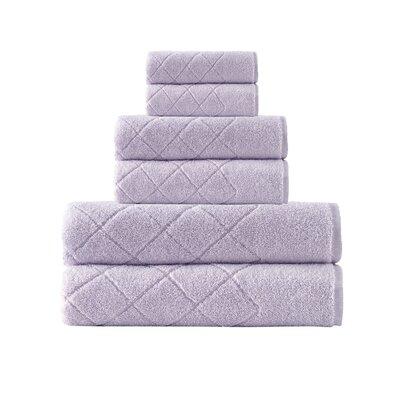 Villers 6 Piece Turkish Cotton Towel Set Color: Lilac