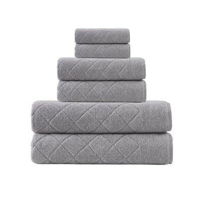 Villers 6 Piece Turkish Cotton Towel Set Color: Silver