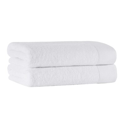 Caswell Turkish Cotton Bath Sheet Color: White