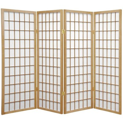 Noan Room Divider Number of Panels: 4 Panels, Color: Natural
