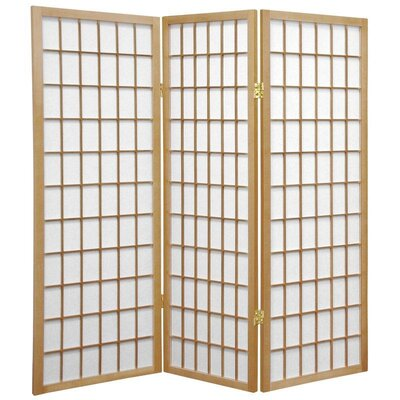 Noan Room Divider Number of Panels: 3 Panels, Color: Natural