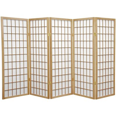 Noan Room Divider Number of Panels: 5 Panels, Color: Natural