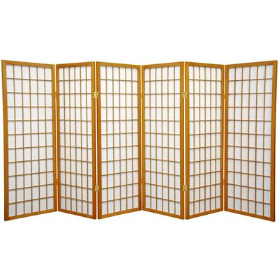 Noan Room Divider Number of Panels: 6 Panels, Color: Honey