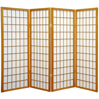 Noan Room Divider Number of Panels: 4 Panels, Color: Honey
