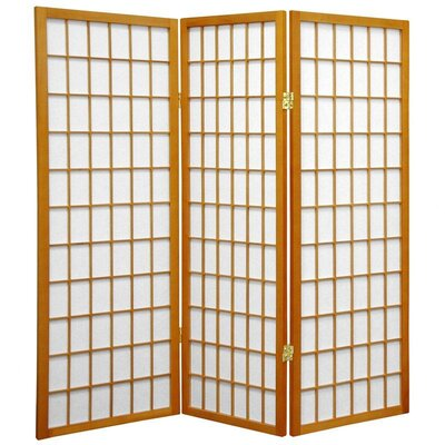 Noan Room Divider Number of Panels: 3 Panels, Color: Honey