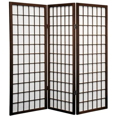 Noan Room Divider Number of Panels: 3 Panels, Color: Walnut