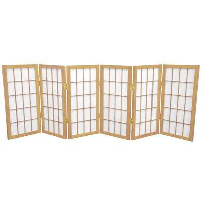 Noan Shoji Room Divider Number of Panels: 6 Panels, Color: Natural