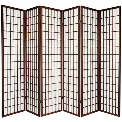Tejas Shoji 6 Panel Room Divider Color: Walnut