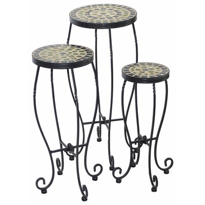 Saad Son 3 Piece Nesting Plant Stand Set Color: Green