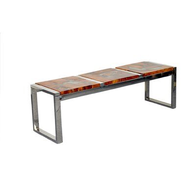 Pene Wood bench Color: Natural Resin