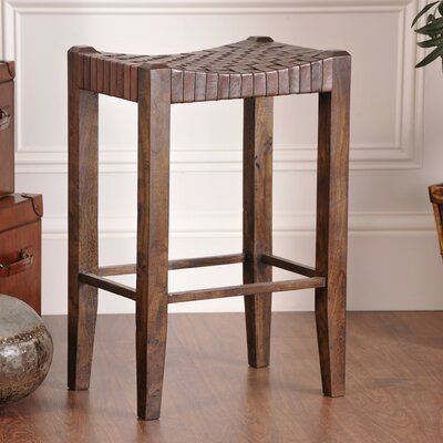 """Alessandro 30"""" Bar Stool Upholstery: Sienna Brown"""