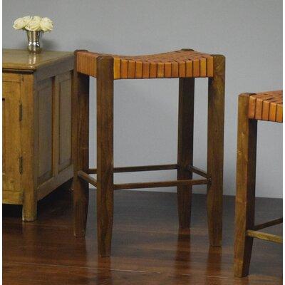 "Alessandro 30"" Bar Stool Upholstery: Apricot"