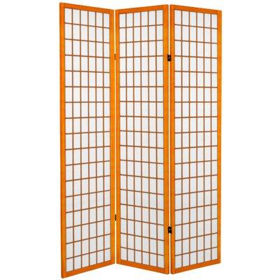 Marissa 3 Panel Room Divider Color: Honey