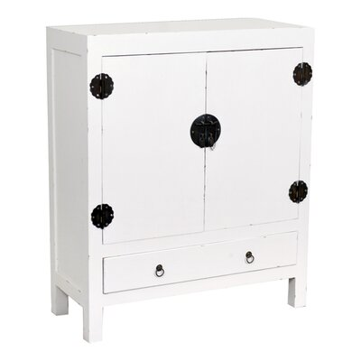Zac Accent Cabinet Size: Medium, Color: White