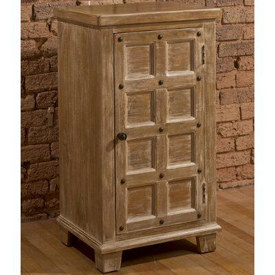 Geraci 2-Tier with Nailheads 1 Door Accent Cabinet