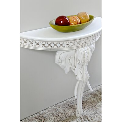 Betty Half-Circle Console Table Color: Antique White