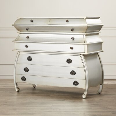 Brunella 8 Drawer Wood Chest Color: Silver