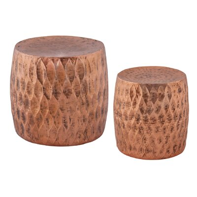 Brys 2 Piece Iron Accent Stool Set