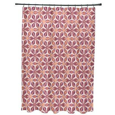 Viet Mosaic Shower Curtain Color: Purple