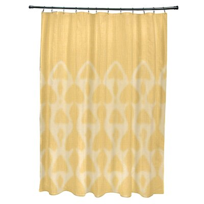 Viet Watermark Shower Curtain Color: Yellow