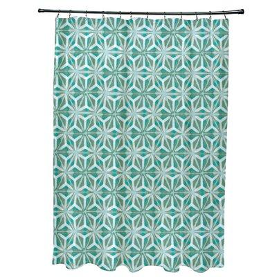 Viet Mosaic Shower Curtain Color: Aqua