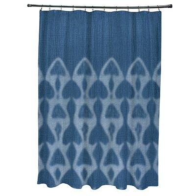 Viet Watermark Shower Curtain Color: Blue