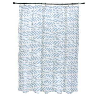 Viet Rolling Waves Shower Curtain Color: Light Blue