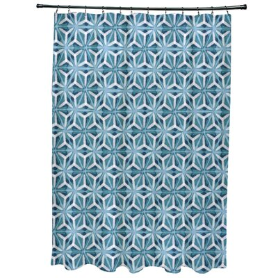 Viet Mosaic Shower Curtain Color: Teal