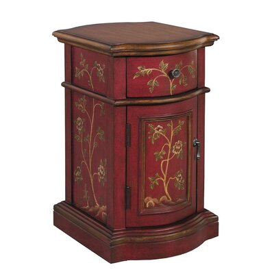 Williamsville 1 Door Accent Cabinet Color: Exotic Red