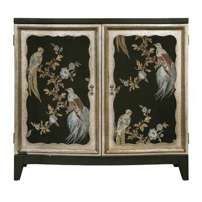 Romulus Bird Motif 2 Door Accent Cabinet