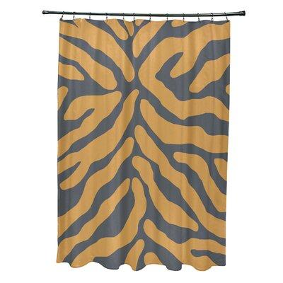 Kam Animal Print Shower Curtain Color: Gray