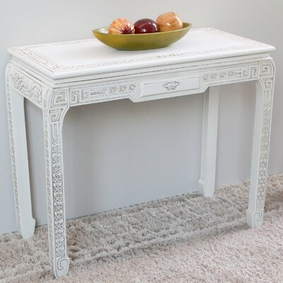 Betty Console Table Color: Antique White