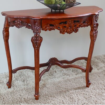 Betty Wood Console Table Color: Stain